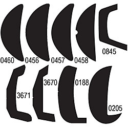 BLK 1-7/16IN RADIUS BACK RIGID VINYL