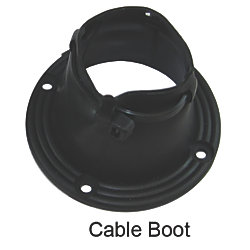 CABLE BOOT VINYL 3IN BLACK