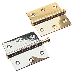"BRASS REMOVE PIN HINGE 1 5/8""X1 5/8"