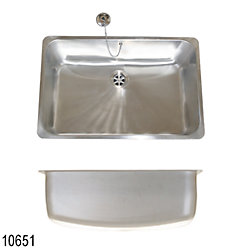 SS SATIN RECTANGLE SINK 21.5X 14X 8