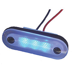 12V 5W BLU SANTIAGO 3-LED OVAL LIGHT