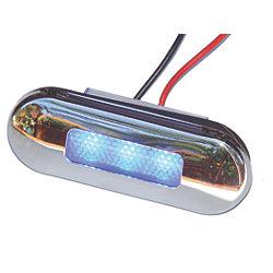12V 5W SS SANTIAGO BLU 3-LED LIGHT OVAL
