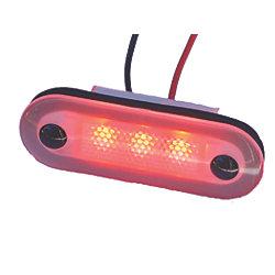 12V RED SANTIAGO 3-LED OVAL LIGHT