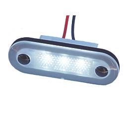 12V 5W WHT SANTIAGO 3-LED OVAL LIGHT