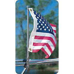 RAIL MOUNT FLAG STAFF 15IN POLE S.S.