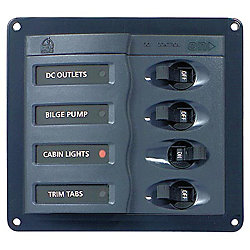 12V DC BREAKER PANEL 4 POS