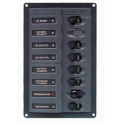 110V AC MAIN PANEL 6 POS