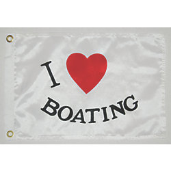 12INX18IN I LOVE BOATING FLAG