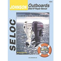JOHNSON, ALL 2.5-250 HP, 2002-07