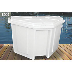 "50"" Wide ""PowerHouse"" Triangular Corner Dock Box"