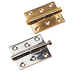 CHM/BRASS REMOVE PIN HINGE 1 5/8
