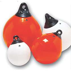 9IN WHITE TUFF END BUOY