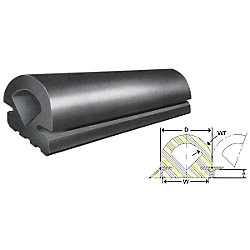 60FT,FAN NOSE EPDM RUBBER-3.75INBASE