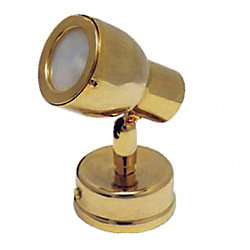 CCF READING LIGHT EURO BRASS 12V