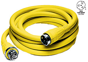50 A 125/250V Shore Power Cord by Hubbell