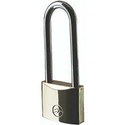 1 1/4IN BRASS LONG KEYED PADLOCK