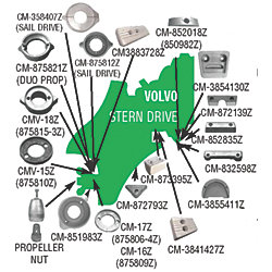 ZINC VOLVO SAILDRIVE RING ANODE