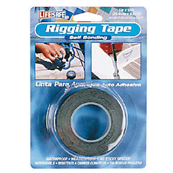 BLACK RIGGING TAPE 1IN X 15FT