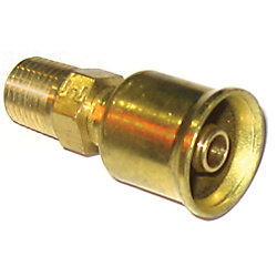 5/8IN CRIMP FIT MALE RIGID STR 3/4-14