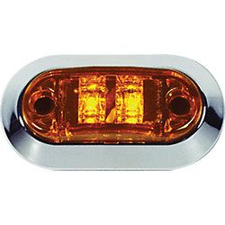 OVAL AMBER LED SIDE/CLEARANCE LIGHT