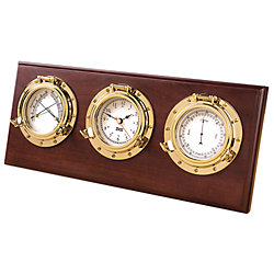 PORTHOLE WEATHER STATION BRASS