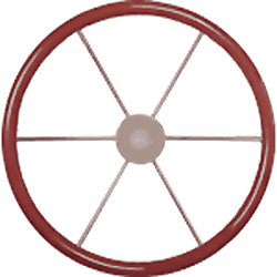STEERING WHEEL 21-5/8IN MAHOGANY RIM