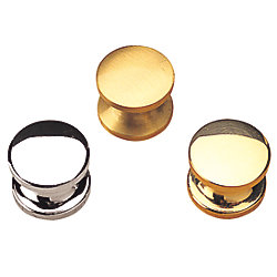 CHROME PLATED BRASS DRAWER KNOB