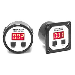 DIGITAL HOUR METER, ROUND, PLASTIC