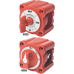300A RED MINI SGL CIRCUIT BATTERY SWITCH