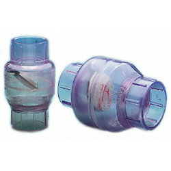 1-1/2IN CLEAR PVC SWING CHECK VALVE