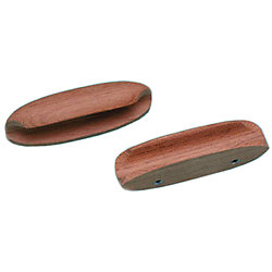 TEAK OVAL DRAWER PULL 4IN LONG(2/PK)