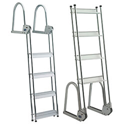 ALU 5 STEP FLIP UP DOCK/RAFT LADDER