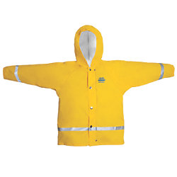 KIDS HOODED F/W JACKET YELLOW 8 YRS