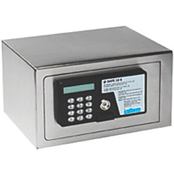 SMALL SS SAFE W/ ELECT. KEY PAD