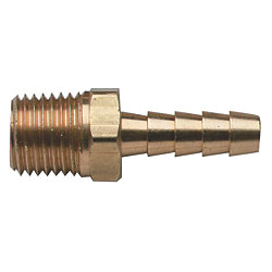 BRS BARB 1/4IN NPT X 1/4IN HOSE