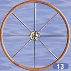 28IN WHEEL TEAK/SS 8 SPOKE