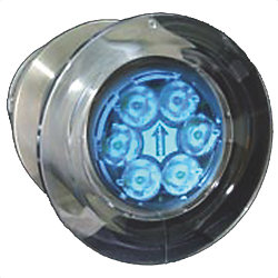 UNDERWATER LIGHT LED (6) BLUE/WHITE