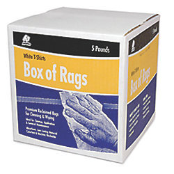 RECYCLED WHITE CLOTH RAGS 5# BOX