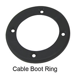 CABLE BOOT REINFORCING RING 3IN BLK