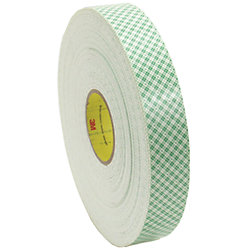 1IN DBL COAT FOAM TAPE 1/8IN (4YD)