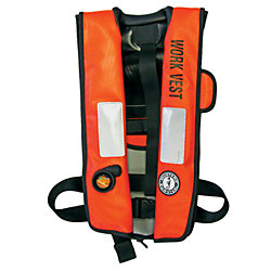 USCG TYPE V INFLATE WORK VEST ORG