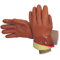 INSULATED VINYL GLOVE X-LARGE- RUST