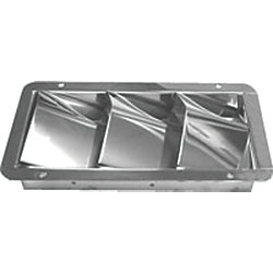 STAINLESS 3 SLOT VENTILATOR