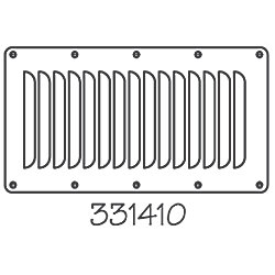 STAINLESS LOUVERED VENT 5INX9IN