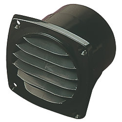ABS HOSE VENT 3IN BLACK