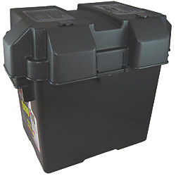 BATTERY BOX SNAP TOP GROUP 27 BLACK