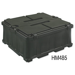 COMMERCIAL BATTERY BOX  DUAL 8D BLK