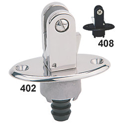 PLASTIC FLUSH MT BIMINI FITTING BLK