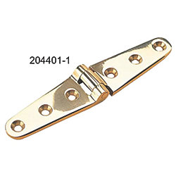 POLISHED BRASS STRAP HINGE 6IN *PR