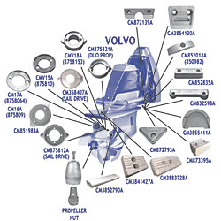 ALU VOLVO 290HP ANODE KIT